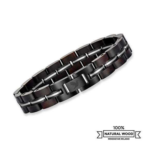 Black Mamba - Wooden and Stainless Steel Bracelet