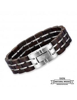 Scorpion - Wooden and stainless steel bracelet