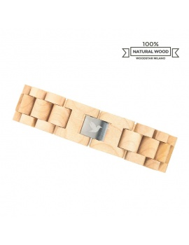 White Crocodile - Natural wood bracelet