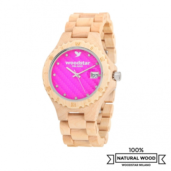 Woodstar Milano mod. Siona - Natural wooden watch