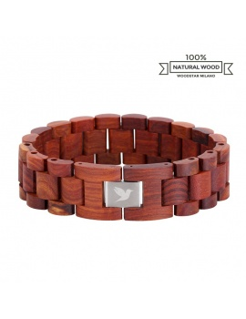 Red Crocodile - Natural wood bracelet