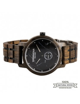 Naua - Wristwatch in wood, steel and marble