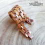 Snake - Zebrawood and Stainless Steel Bracelet